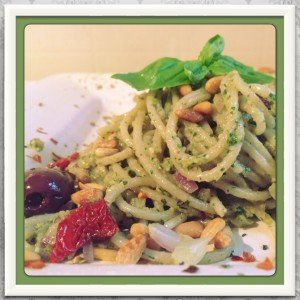 Arugula Basil Pesto Pasta