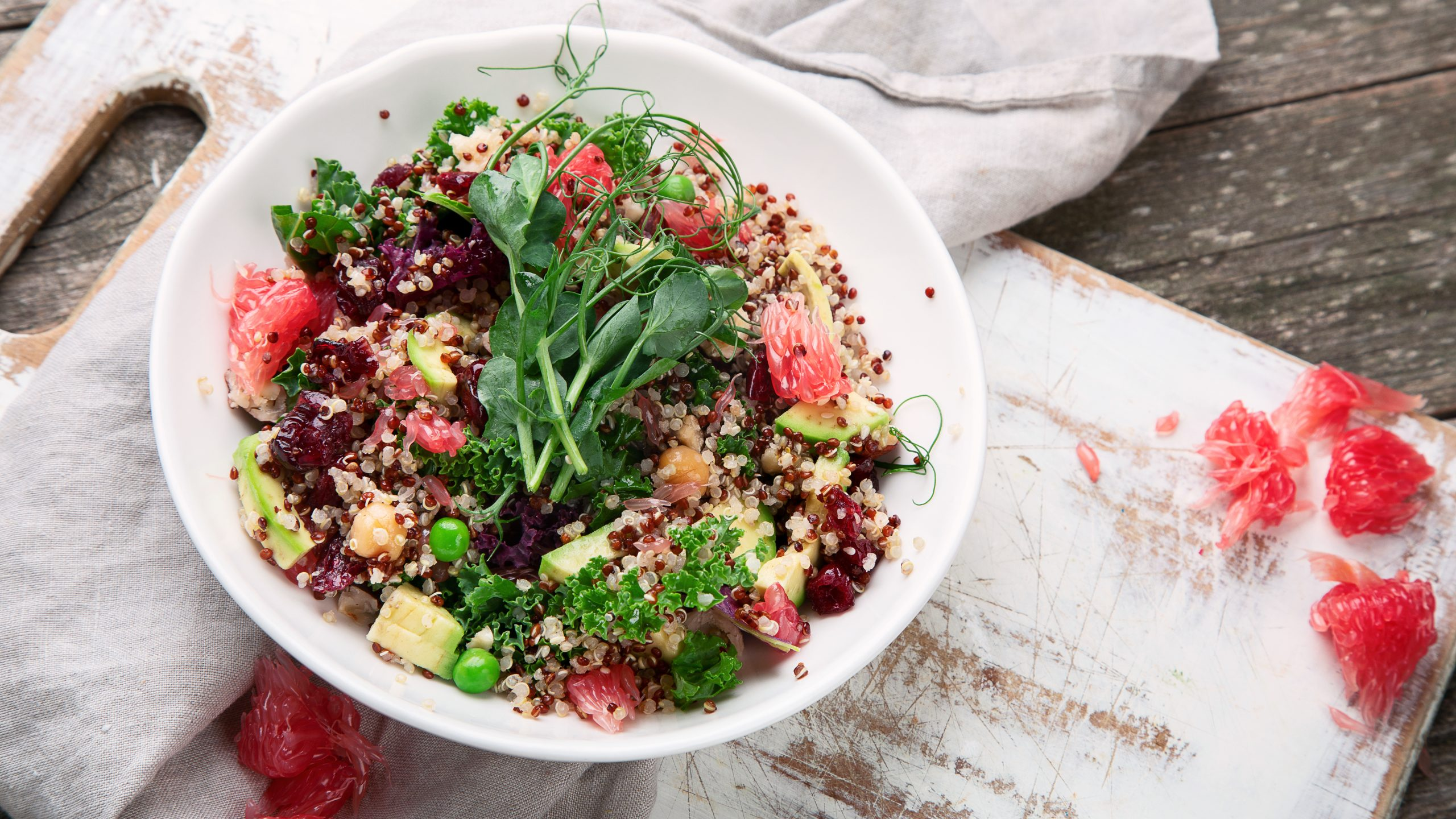 Quinoa Salad With Baked Grapefruit