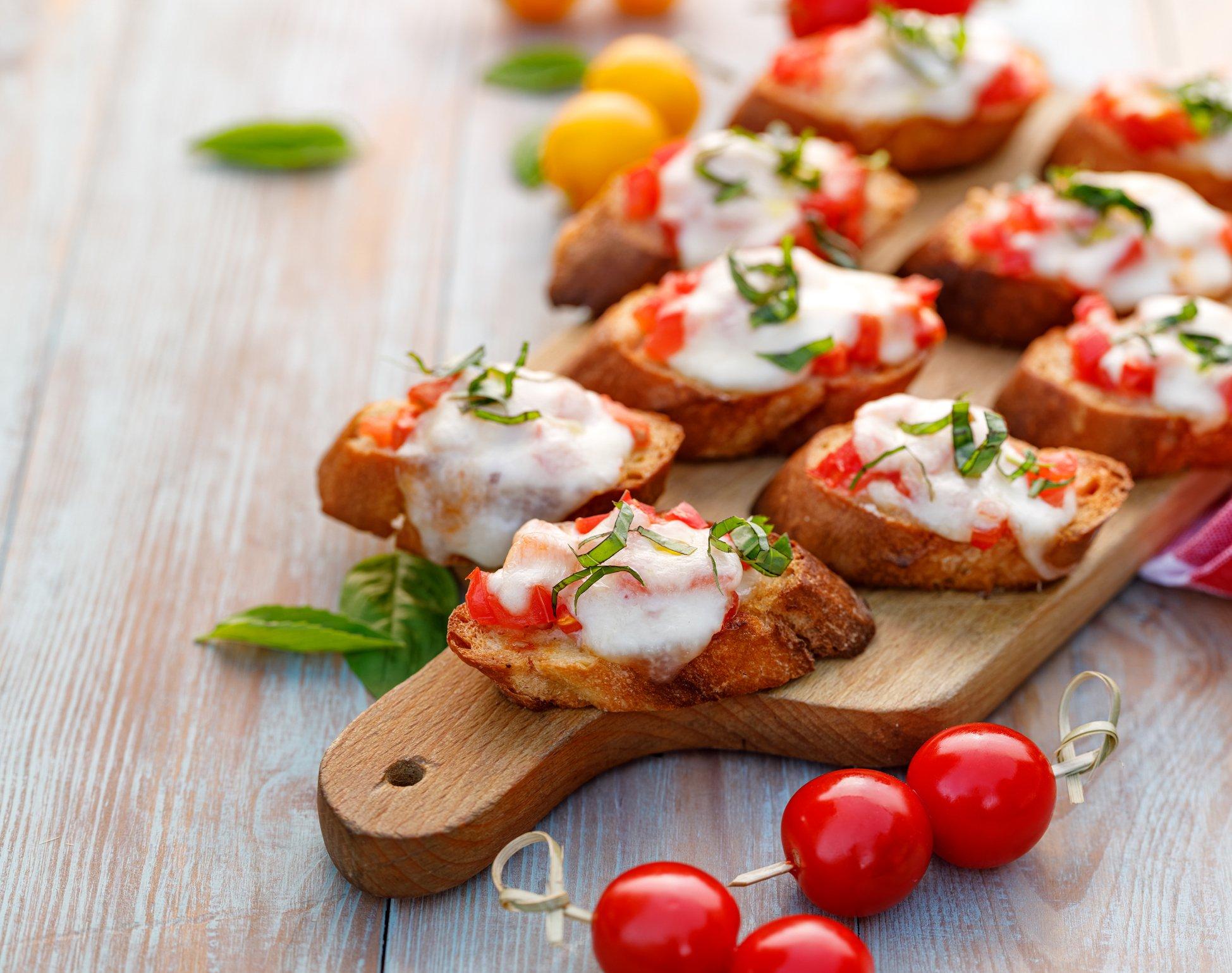 Sauteed Bruschetta With Fresh Mozzarella